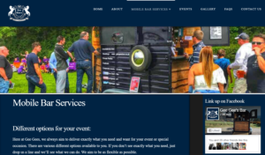 GeeGees Bar Mobile Services Website designed by Business Toolbox Cumbria