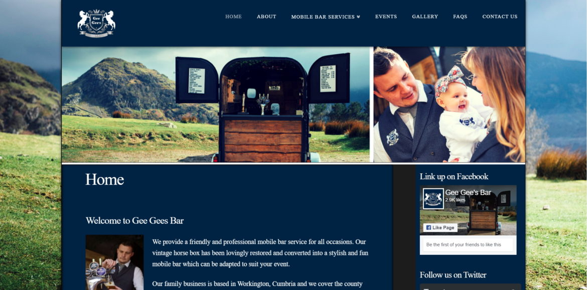 GeeGees Bar Home Page Business Toolbox Cumbria Web Design