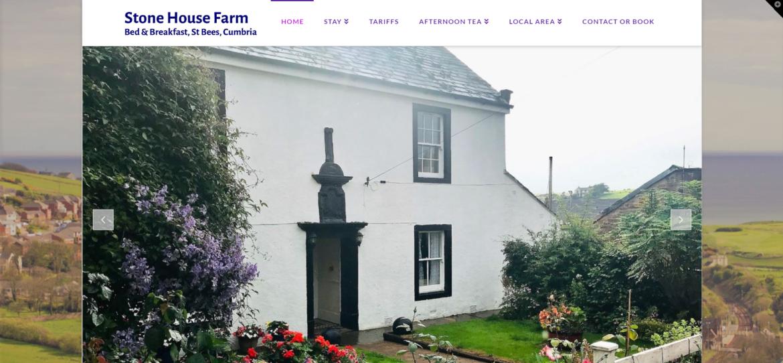 stonehouse farm st bees website design cumbria